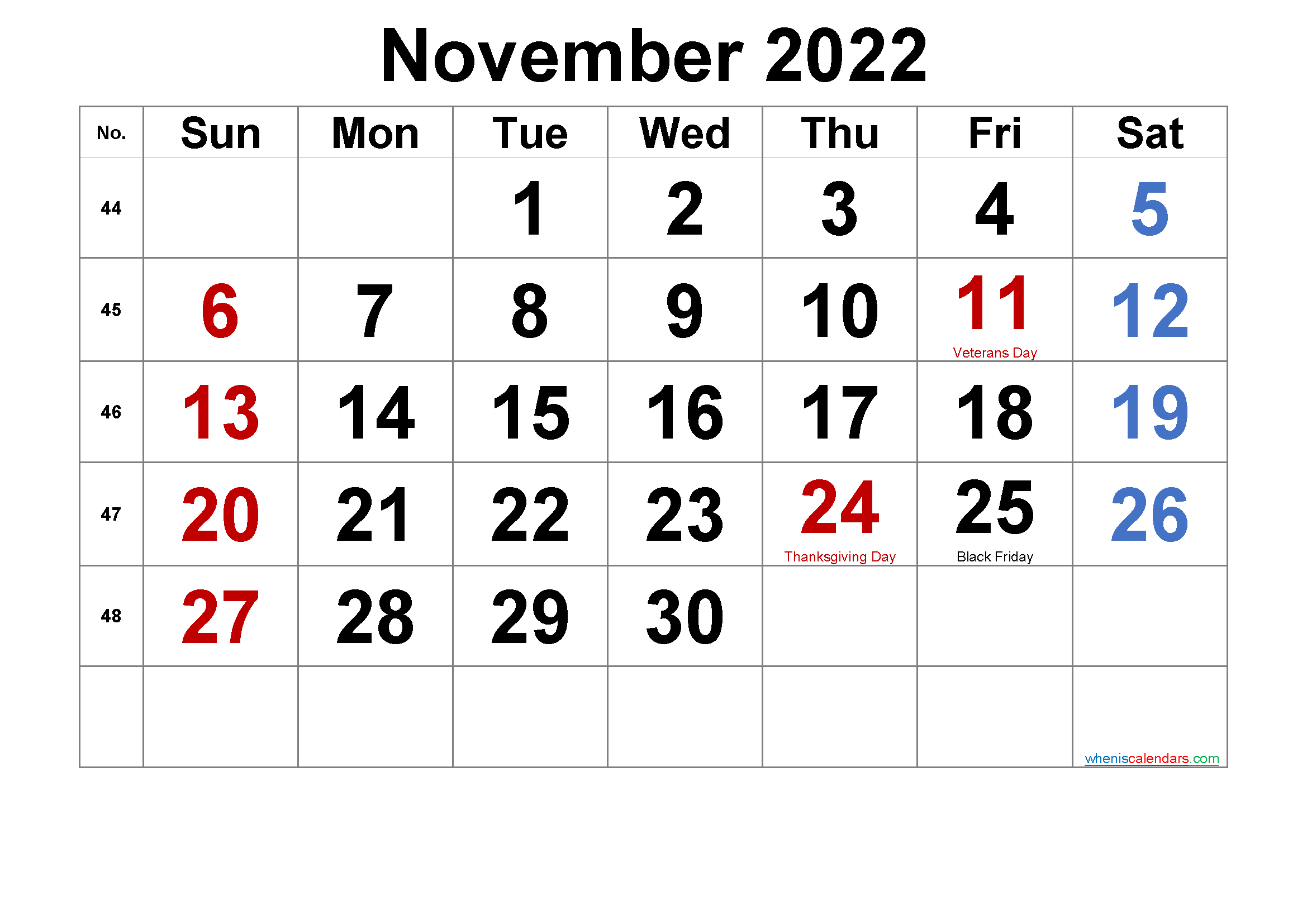 If you have any questions regarding these events, please contact us. Free Printable November 2022 Calendar With Holidays