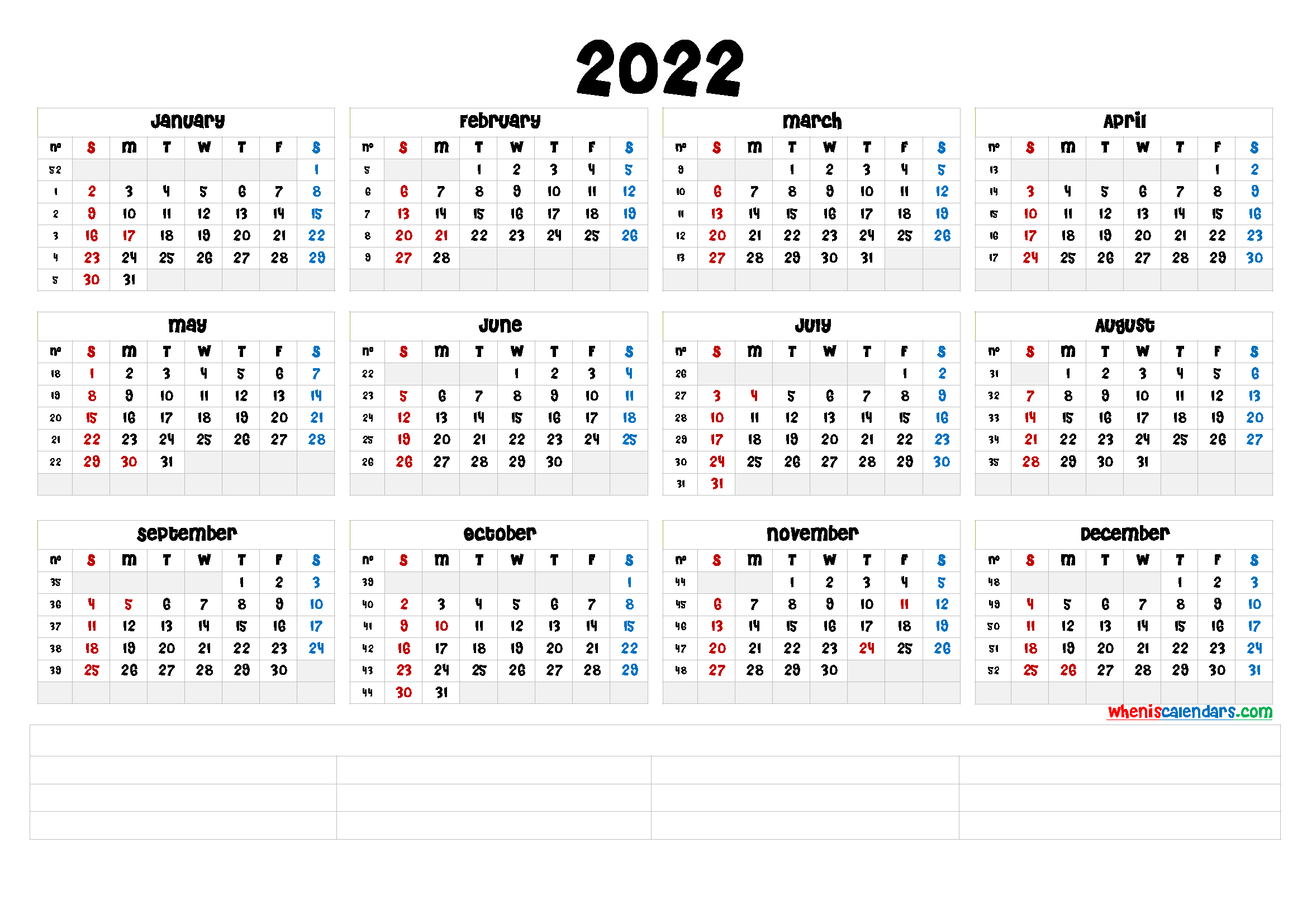 Sure, digital calendars are convenient — we can take them everyw. Free Printable 2022 Calendar by Month (6 Templates) - Free ...