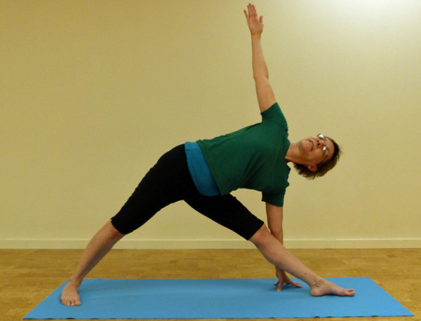 Triangle Pose Home Yoga Practice