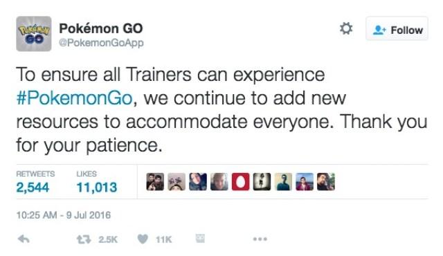 Pokemon Go Disability Tweet