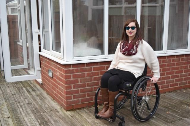 Shell Pink Bar Back Jumper, wheelchair fashion, Maternity Capsule Wardrobe,