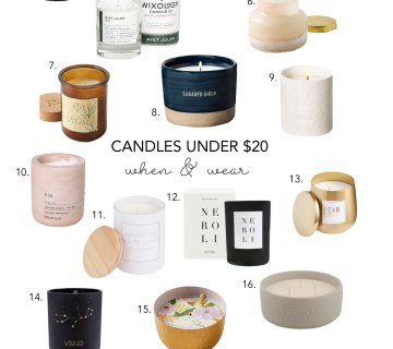 candles under $20