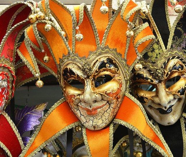 Masks At Venice Carnival