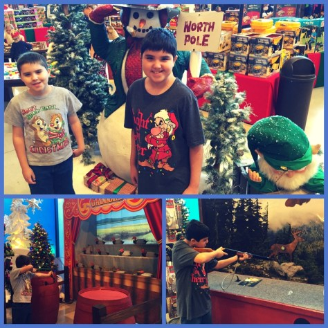 Christmas at Bass Pro Shop: Free Santa pictures and activities for kids.
