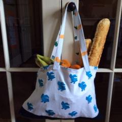 denim reusable shopping bag
