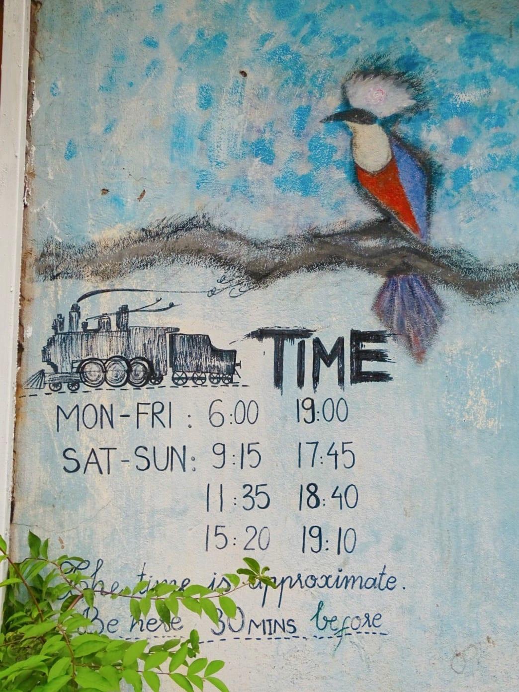Hanoi Train Street times