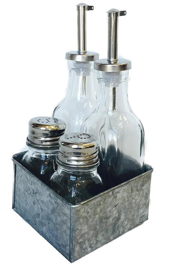 Glass Condiment Bottles