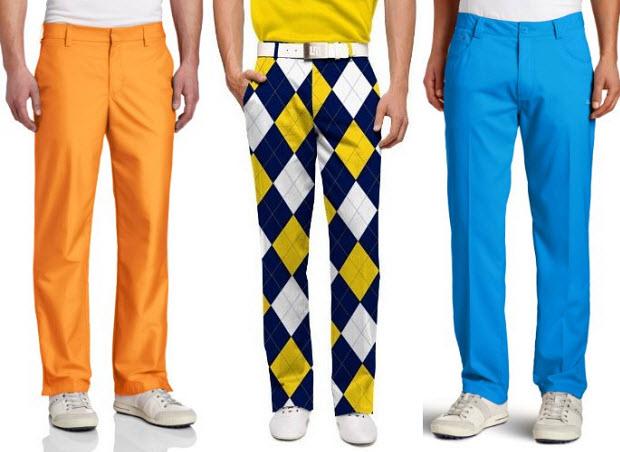 Colored Golf Pants