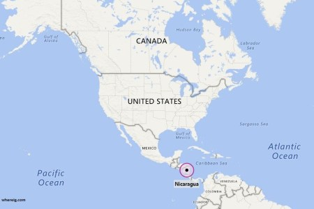 nicaragua location on the north america map » ..:: Edi Maps ...