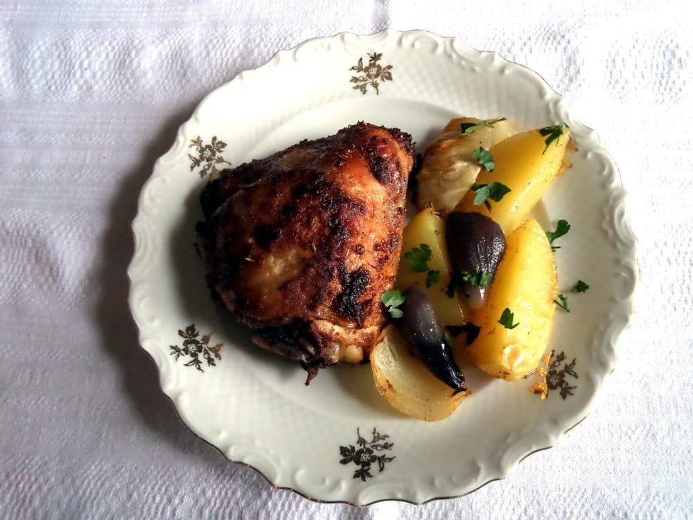 baked chicken thighs2 Baked Chicken Thighs