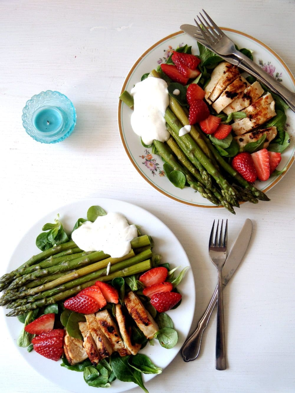 spring salad with strawberr Spring Salad