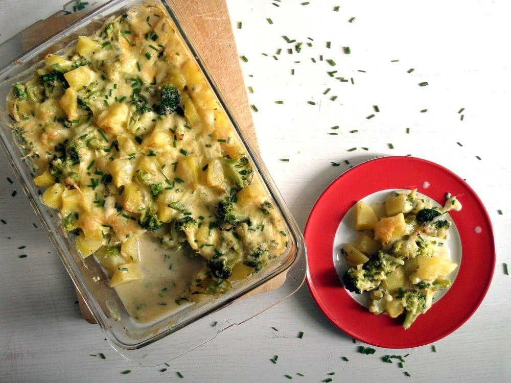 skinny broccoli potato cass Skinny Broccoli Potato Casserole