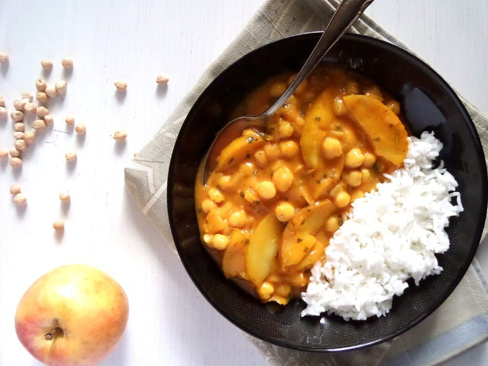 apple curry Vegan Apple And Chickpea Curry