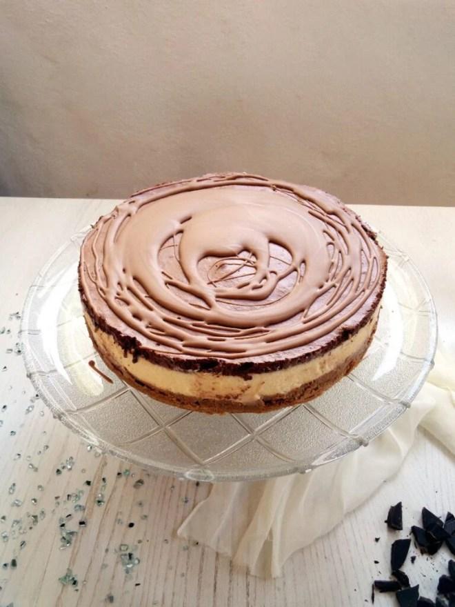 chocolate mousse cake 768x1024 Three Layer Chocolate Mousse Cake with Chocolate Glaze
