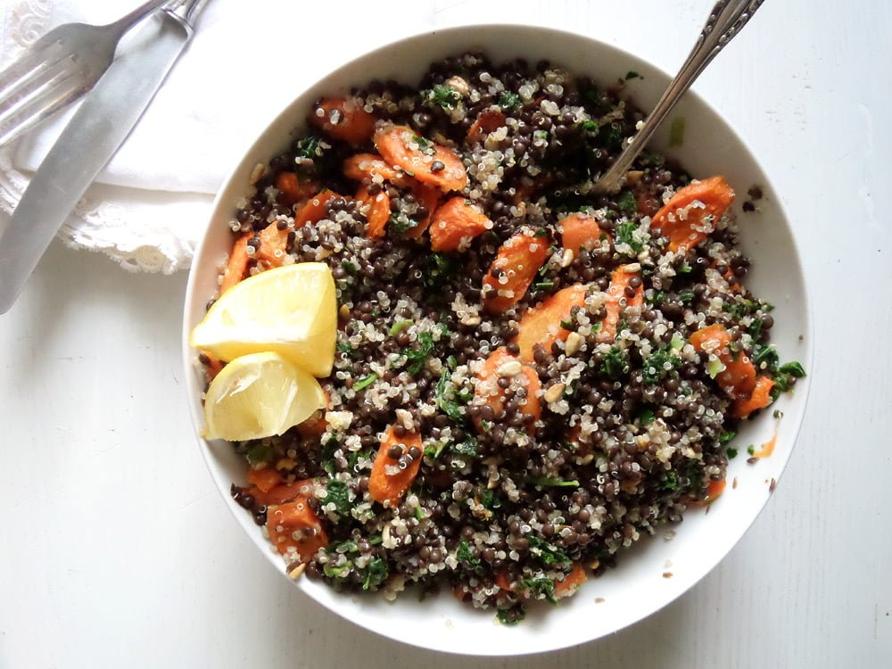 lentil quinoa salad Lentil Quinoa Carrot Salad