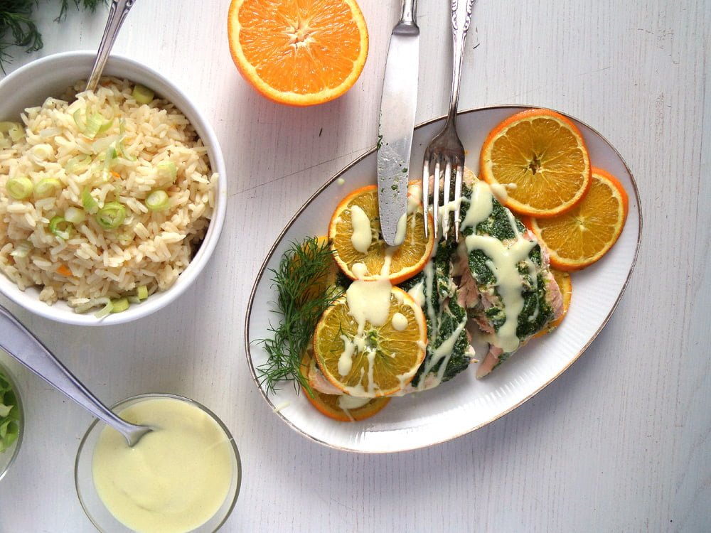 orange salmon sauce Orange Salmon with Dill and Orange Rice