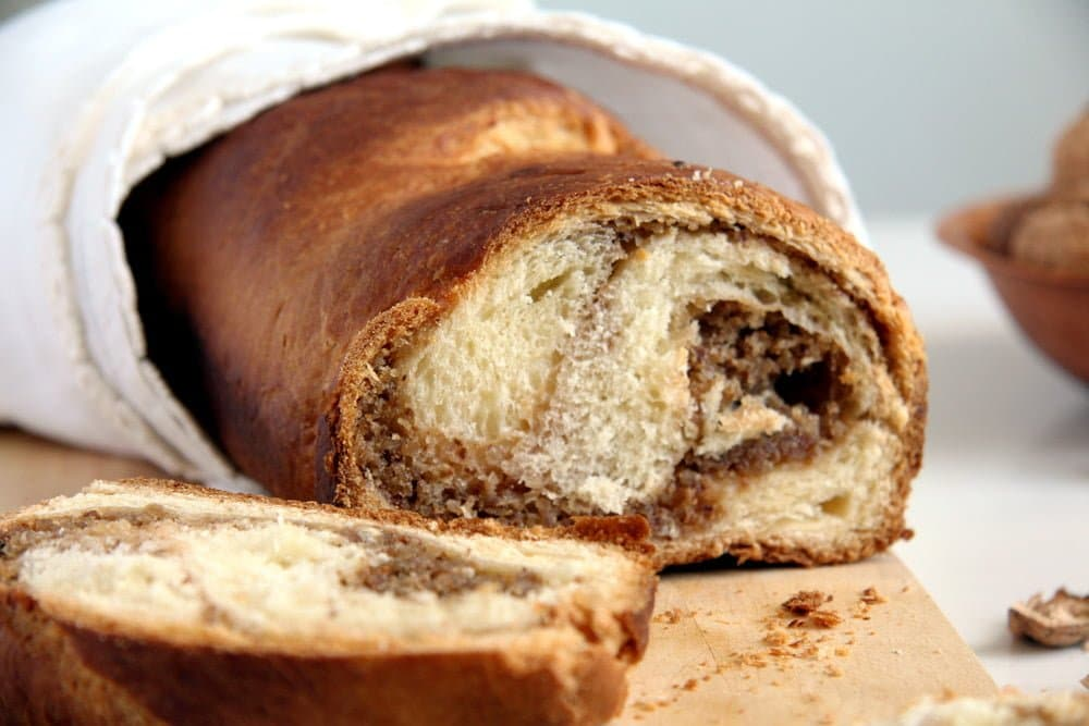 sweet bread cozonac Romanian Sweet Bread with Walnuts – Cozonac