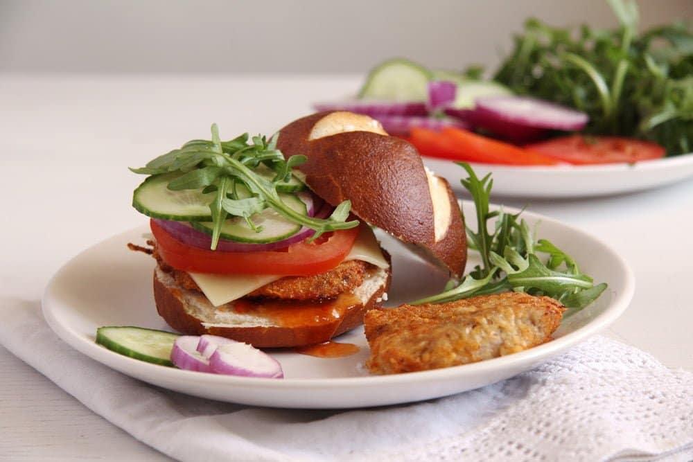 schnitzel oven bake Oven Baked Schnitzel and Schnitzel Burgers