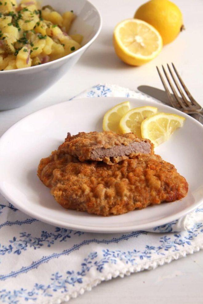 wiener schnitzel austrian 683x1024 Wiener Schnitzel   Classic Austrian Schnitzel with Veal Escalopes
