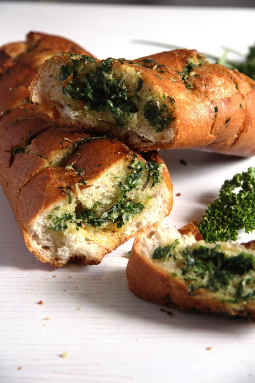 herb bread Mushrooms with Herb Butter and Almond Filling