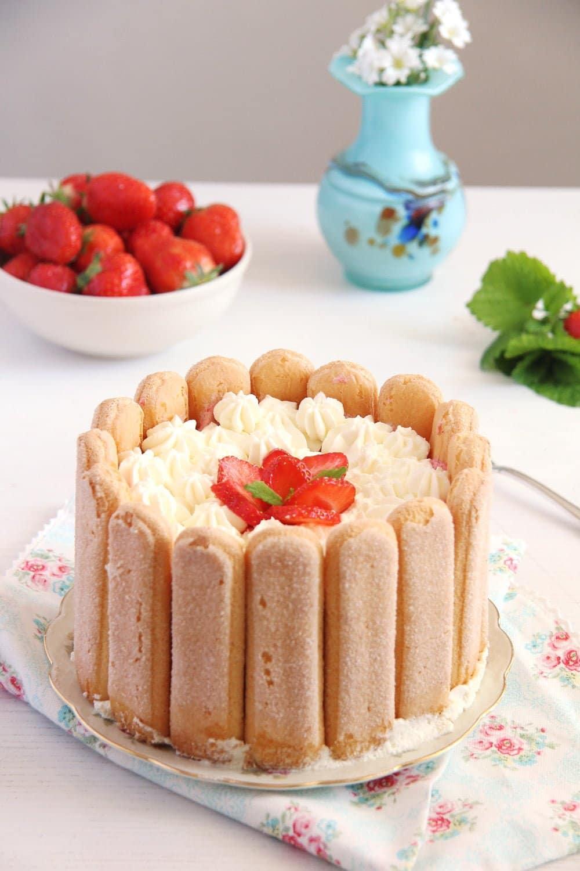 strawberry charlotte mousse Strawberry Charlotte
