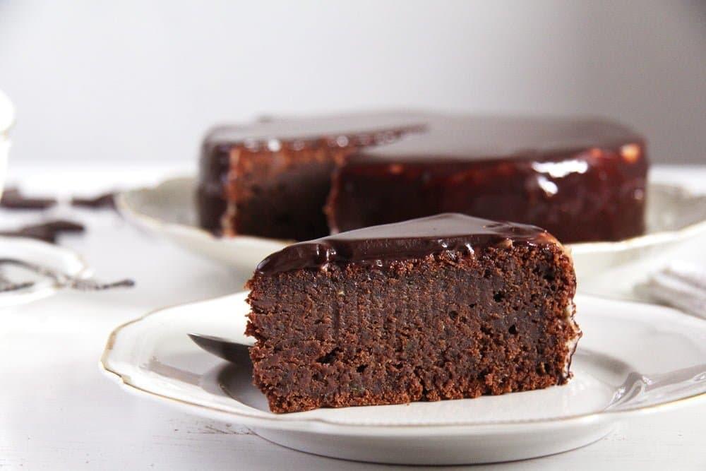 chocolate cake zucchini Mirror Glaze Chocolate Zucchini Cake