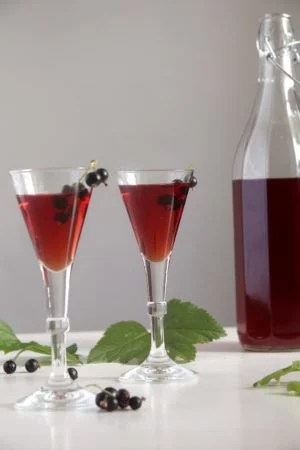 creme cassis drinks 300x450 Homemade Crème de Cassis or Black Currant Liquor