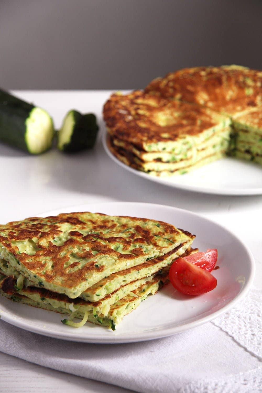 zucchini feta pancakes Zucchini Feta Pancakes with Herbs