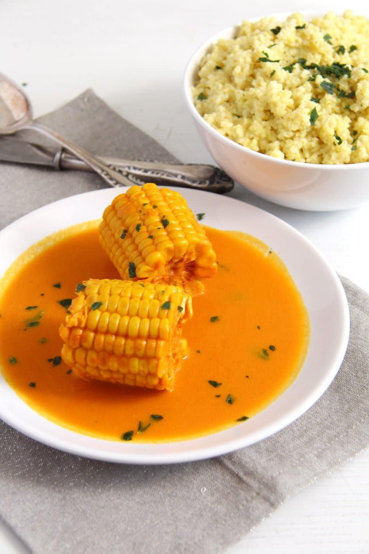 somali corn turmeric Somali Corn in Coconut Turmeric Sauce