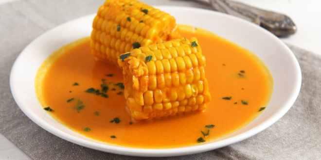 Somali Corn in Coconut Turmeric Sauce