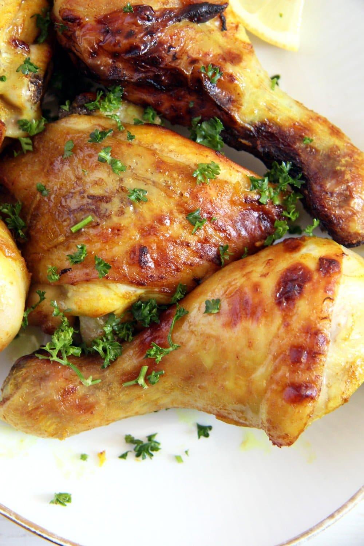 turmeric chicken baked Turmeric Chicken Legs with a Garlic Honey Glaze
