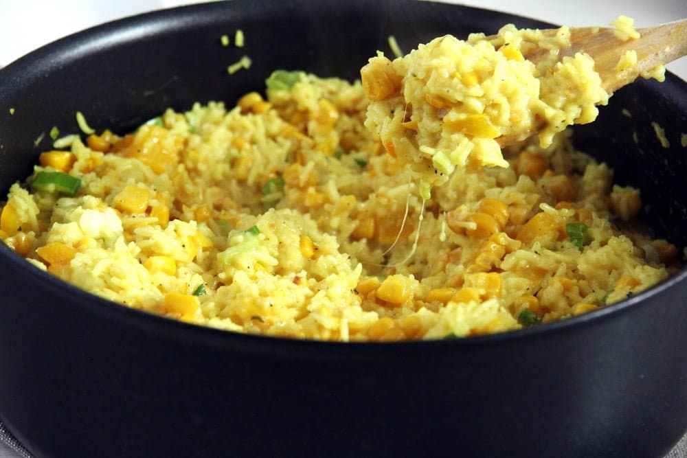 turmeric rice Cheesy Rice with Corn and Fresh Turmeric