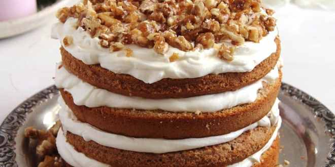Caramelized Walnut Cake