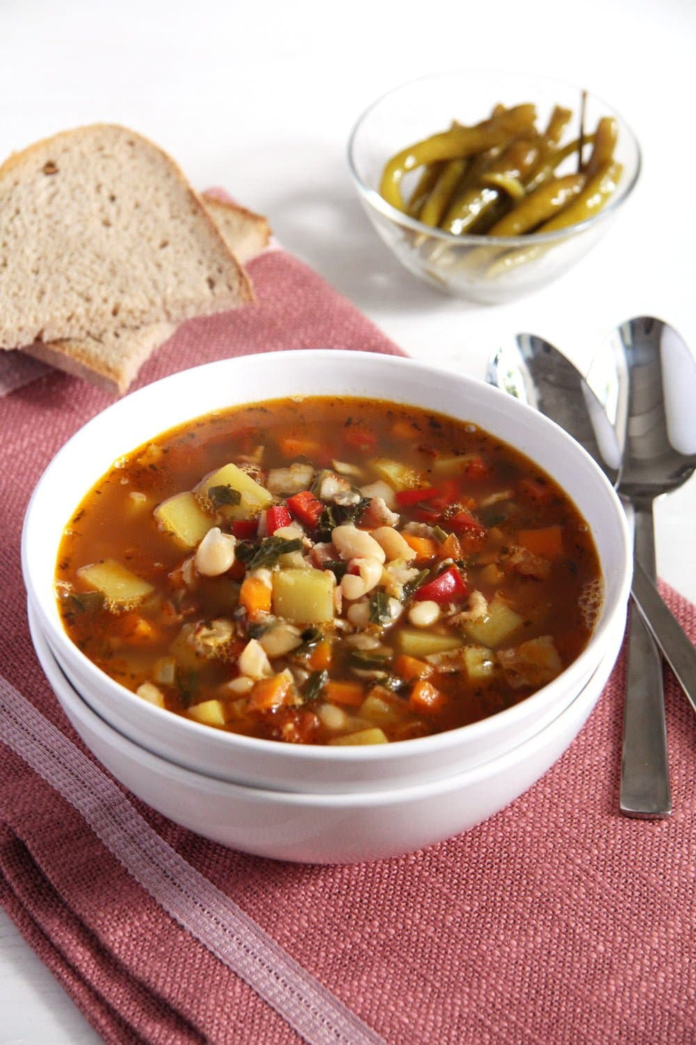bean soup White Bean and Vegetable Soup