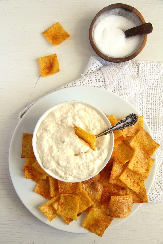 polenta chips dip Polenta Chips