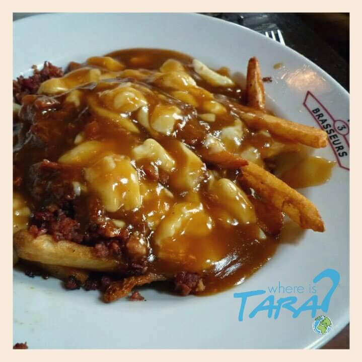 POUTINE! Chips, gravy and cheese curds. This is the best food I have ever experienced in my LIFE. You can get many different variations. Perfect hang over food. McDonalds in Canada ever do a version. I'd live on this.
