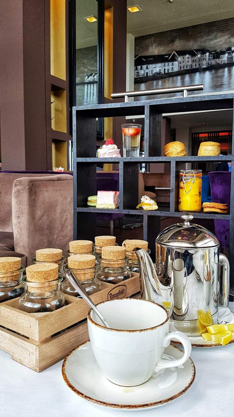 The galmont hotel and spa afternoon tea set