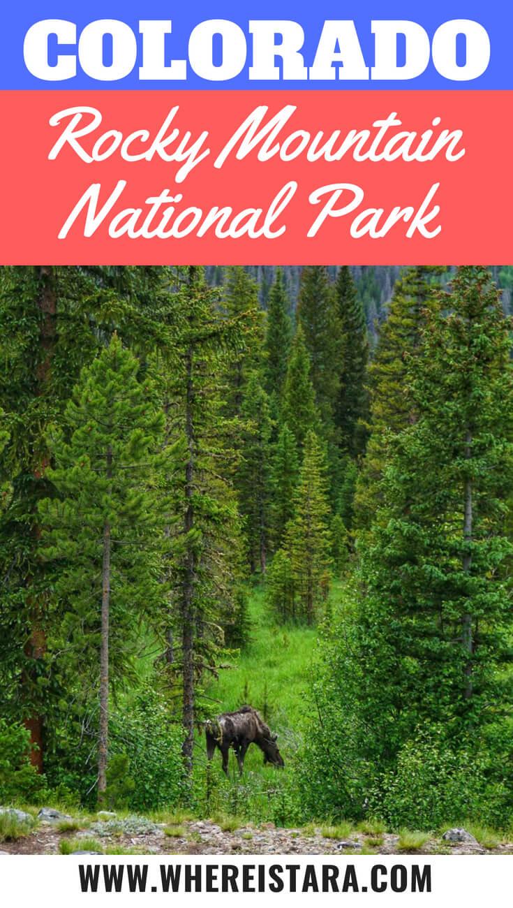 Colorado rocky mountain national park estes park pin