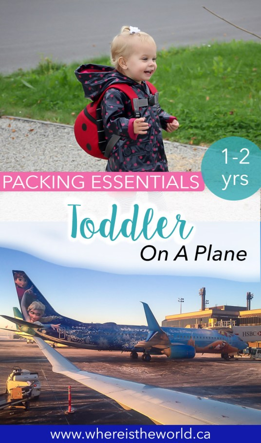 If you're flying with a toddler, you'll need this essential packing list. This toddler packing list for airplane carry on bags will ensure you have everything you need for a smooth flight. Includes a traveling with a toddler checklist! #travelwithtoddler #flywithkids #flywithbaby