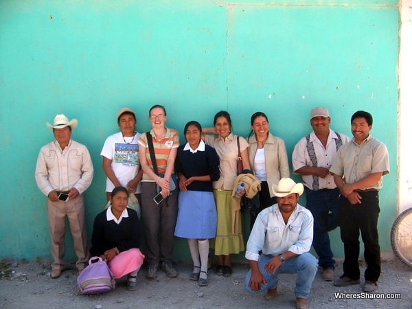 My sponsor child, her family and people from town of San Andreas