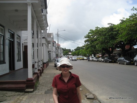 walking the streets in paramaribo