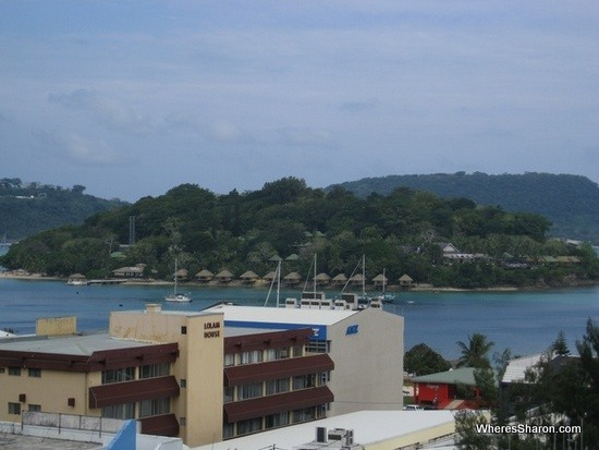 Views of our resort from Port Vila