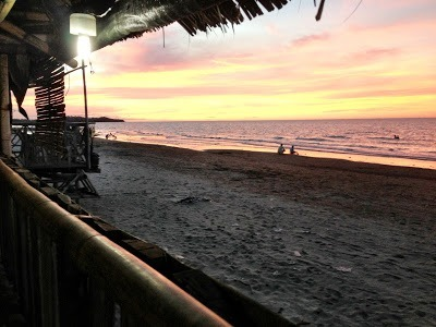 "Sunset from our dinner ""shack"" on baybay beach roxas"