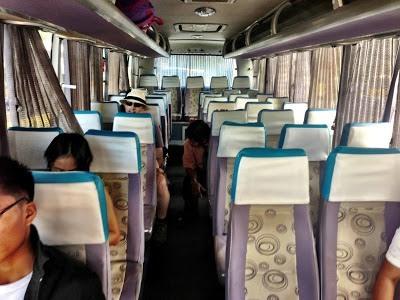 inside of Ceres bus we took Roxas - Iloilo