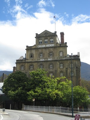 front of Cascade Brewery things to do in tasmania