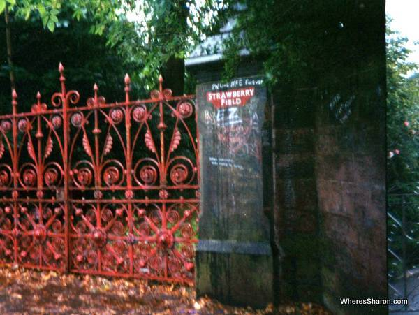 The red gates of Strawberry Fields