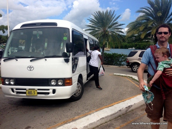 Bus at Nelson's Dockyards Antigua