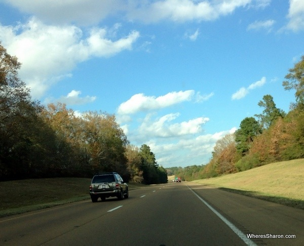 The interstate on our way from Baton Rouge to Jackson MS on driving New Orleans to Atlanta