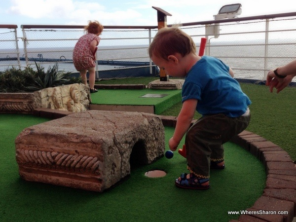 carnival caribbean cruise with kids mini golf