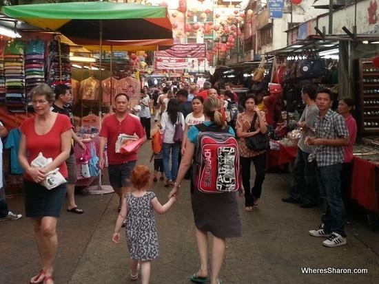 china town kuala lumpur with kids